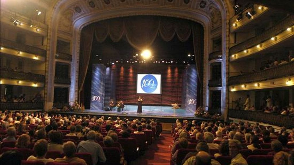 El edificio, que tendrá 1.200 metros cuadrados distribuidos en varias plantas y dos salas de teatro para 350 y 100 personas, respectivamente, se comenzó a construir en el barrio de Pocitos. EFE/Archivo