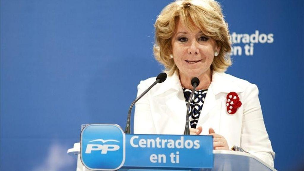 La presidenta de Madrid y candidata a la reelección, Esperanza Aguirre. EFE/Archivo