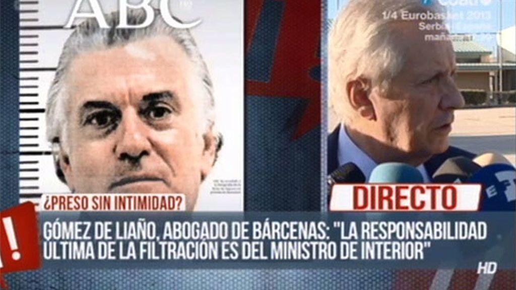 """Gómez de Liaño: """"El máximo responsable de la filtración es el ministro del Interior"""""""