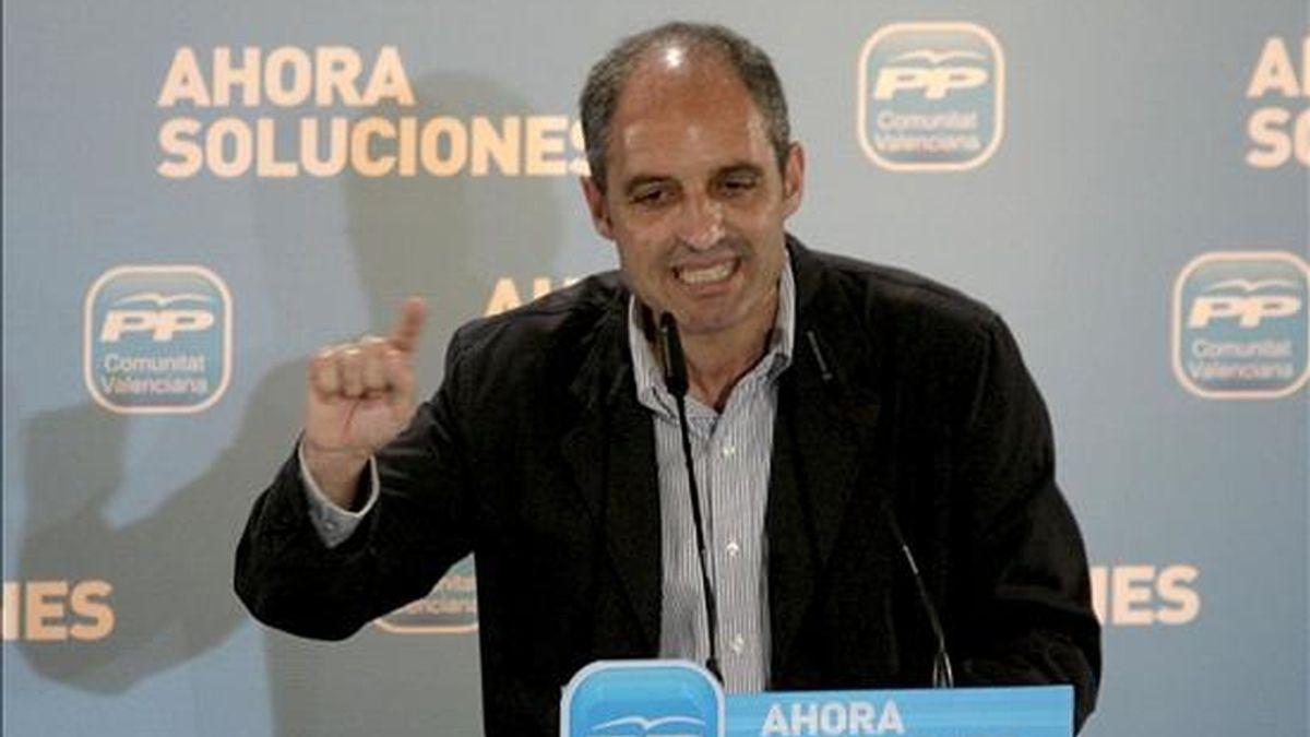El presidente valenciano, Francisco Camps. EFE/Archivo