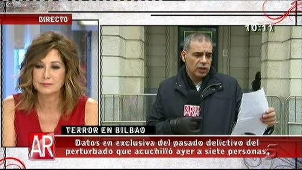 Datos exclusivos del pasado delictivo de asesino de Bilbao