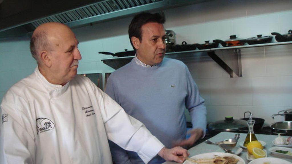 """D. Miguel Palomo, un virtuoso a la hora de freir los """"pescaitos"""""""