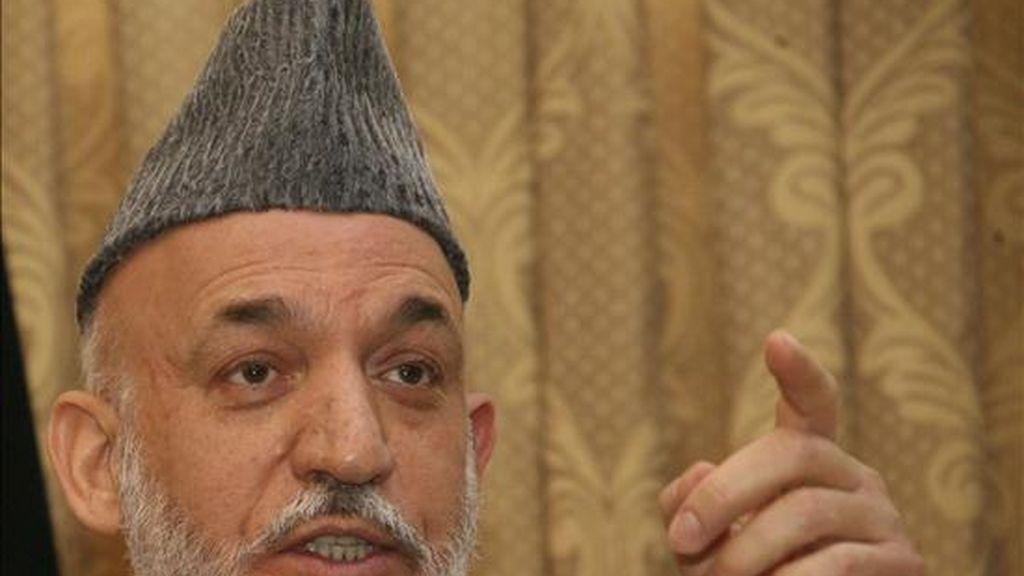 En la imagen, el presidente afgano, Hamid Karzai. EFE/Archivo