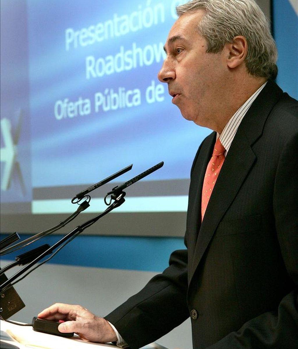 """El presidente del """"holding"""" BME, que agrupa las bolsas de Madrid, Barcelona, Bilbao y Valencia, Antonio Zoido. EFE/Archivo"""