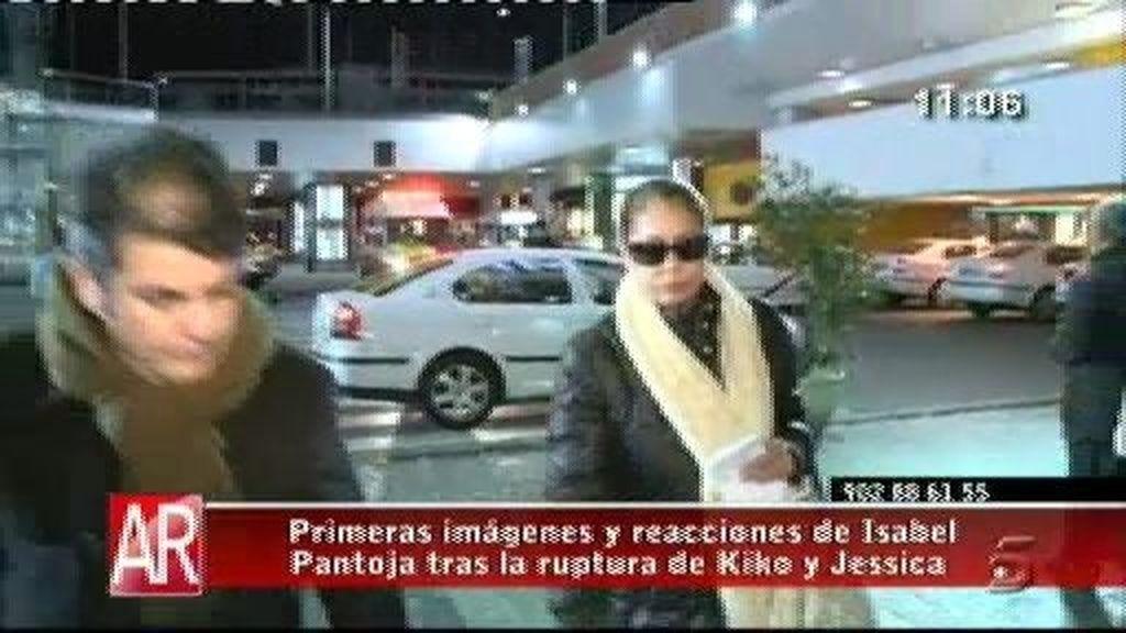 Isabel Pantoja no se pronuncia sobre la ruptura de Kiko y Jessica