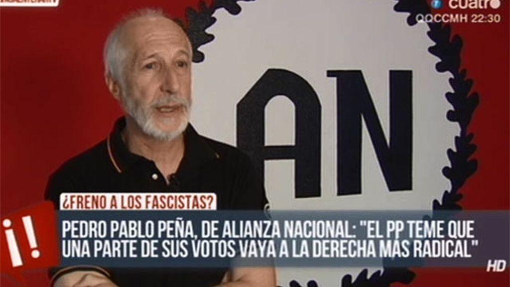 """El líder de Alianza Nacional: """"No puede haber españoles en paro y extranjeros trabajando"""""""
