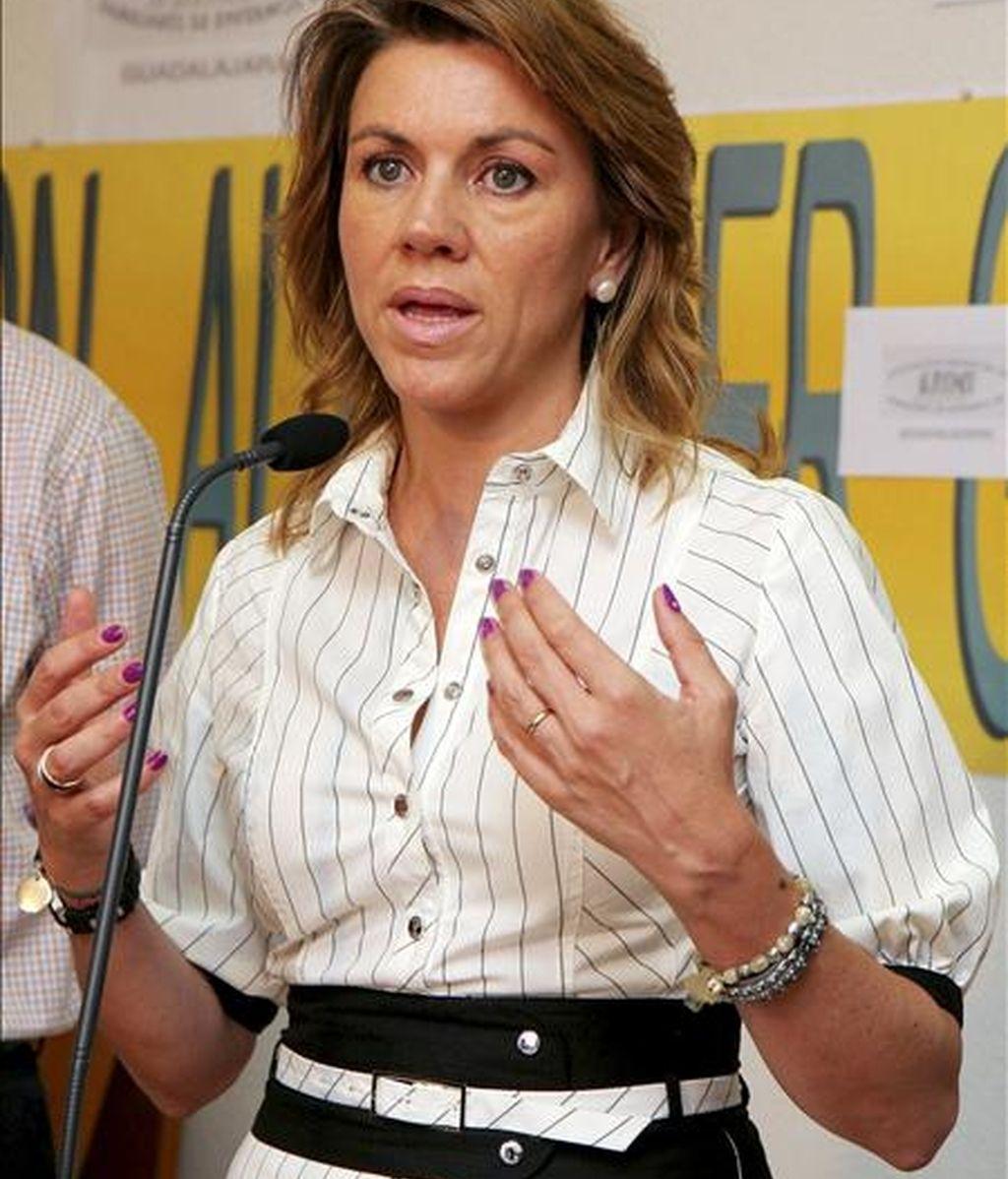 La secretaria general del PP, María Dolores Cospedal. EFE/Archivo