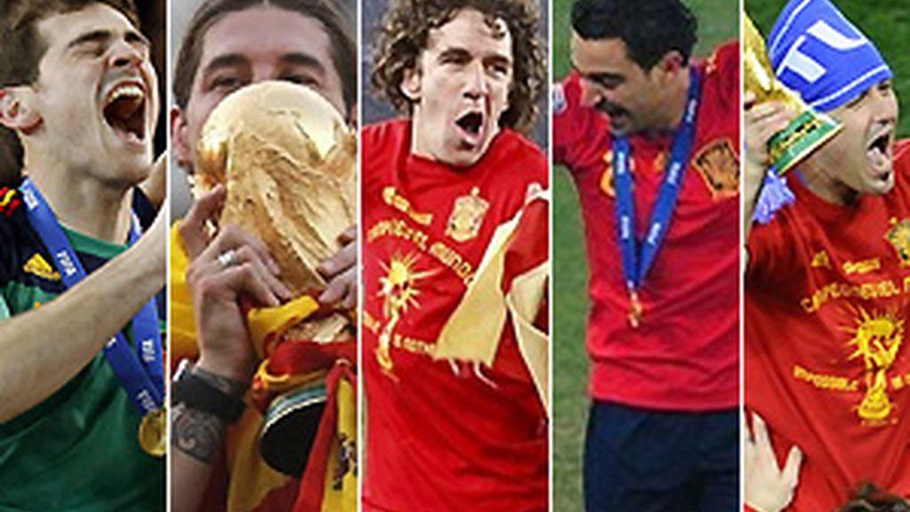 Cinco españoles en el once ideal del Mundial. FOTOS: Archivo.