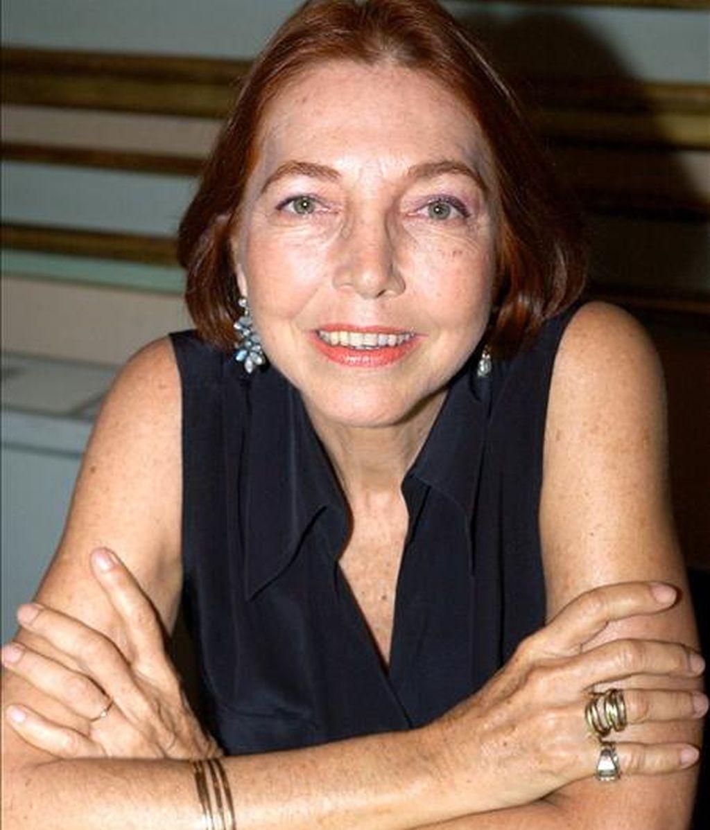 Marina Colasanti, periodista etíope asentada en Brasil desde 1948 recibió una mención especial. EFE/Archivo