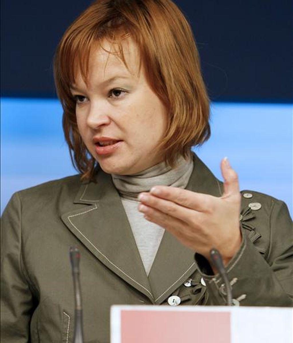 La secretaria de Organización del PSOE, Leire Pajín. EFE/Archivo