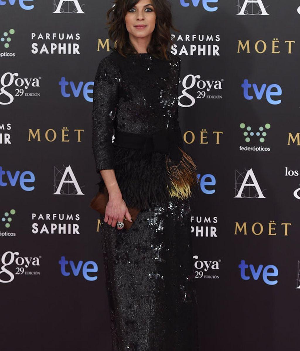 Natalia Tena en la alfombra de Los Goya