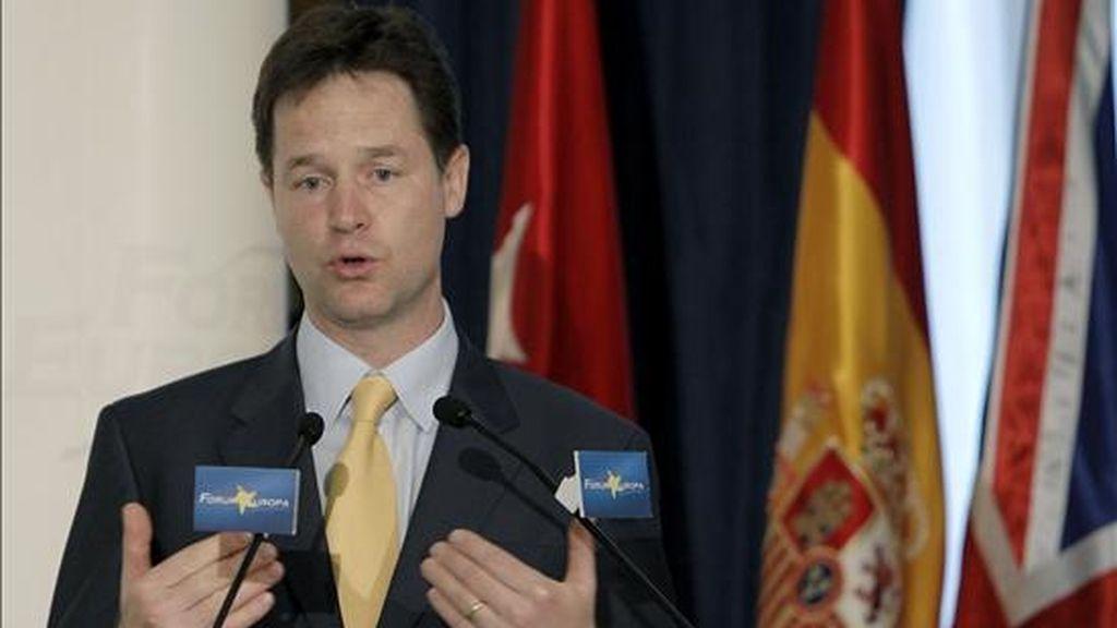 El viceprimer ministro del Reino Unido, Nick Clegg. EFE/Archivo