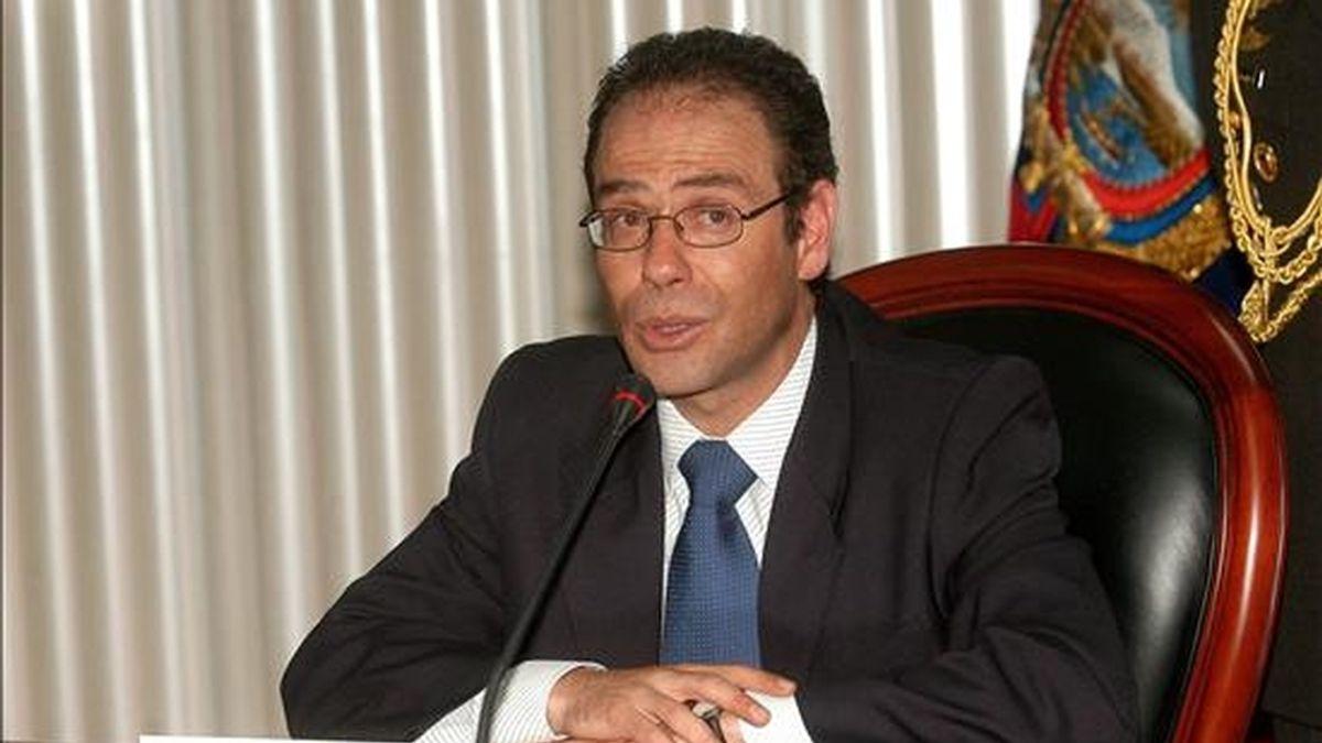 El presidente del Consejo Nacional Electoral (CNE) de Ecuador, Omar Simon, dijo que ya se distribuyó la mayor parte del material electoral para los comicios cuya organización costará alrededor de ocho millones de dólares. EFE/Archivo