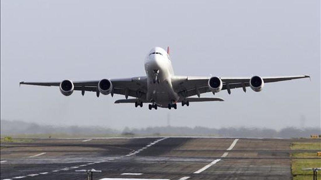 Un avión Airbus A380 de Qantas. EFE/Archivo