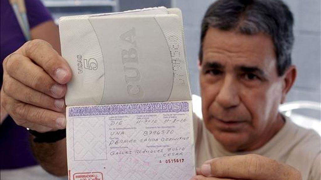 Julio César Gálvez, uno de los disidentes cubanos excarcelados por el régimen castrista llegados recientemente a España. EFE/Archivo