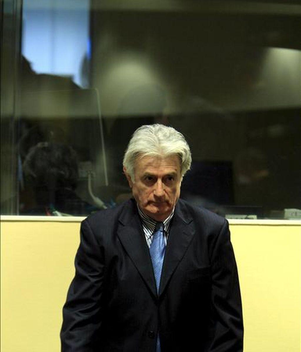 El ex líder serbobosnio, Radovan Karadzic, el pasado mes de marzo ante el Tribunal Penal Internacional para la antigua Yugoslavia. EFE/Archivo