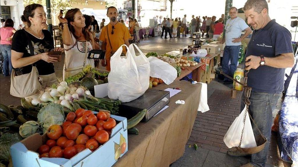 Imagen de un mercado callejero de frutas y verduras. EFE/Archivo