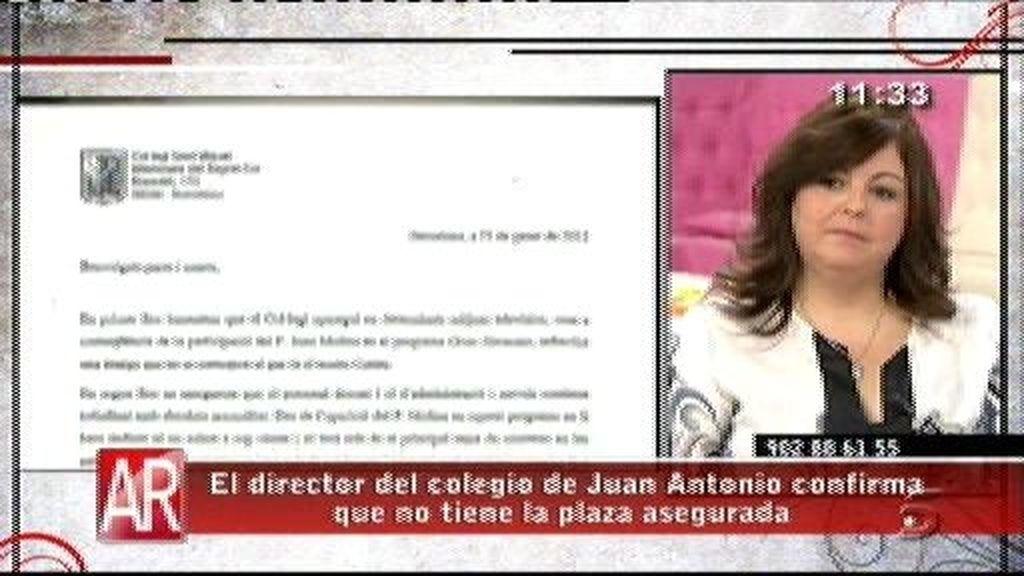 El colegio del Padre Juan confirma que no tiene la plaza asegurada
