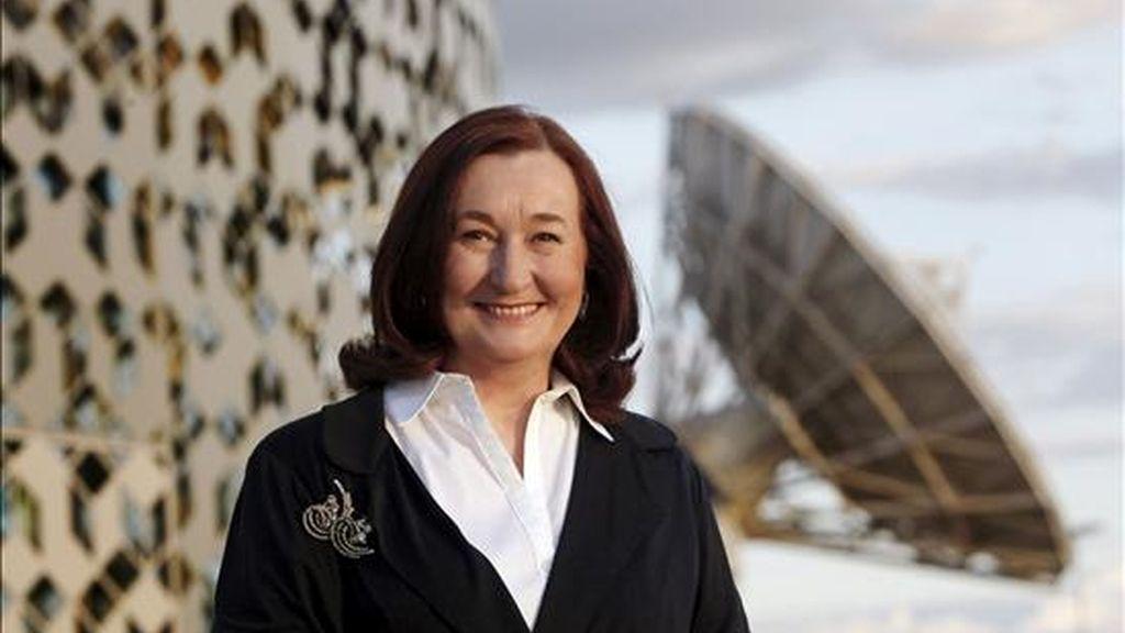 En la imagen, la presidenta de la empresa española Hispasat, Petra Mateos. EFE/Archivo