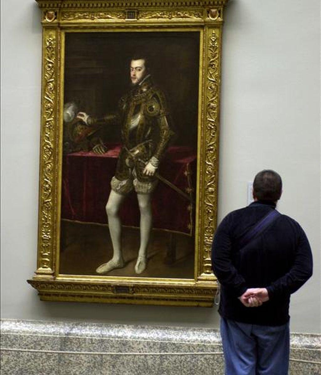 """El cuadro """"Felipe II"""", del pintor Tiziano Vecellio. EFE/Archivo"""