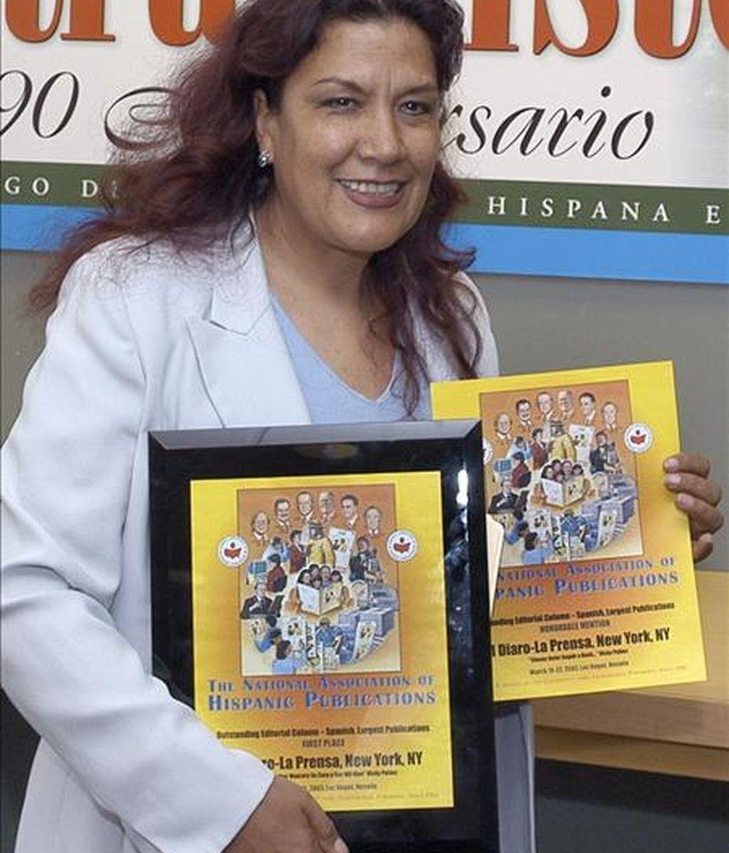 Fotografía de archivo de la periodista peruana Vicky Peláez. EFE/Archivo