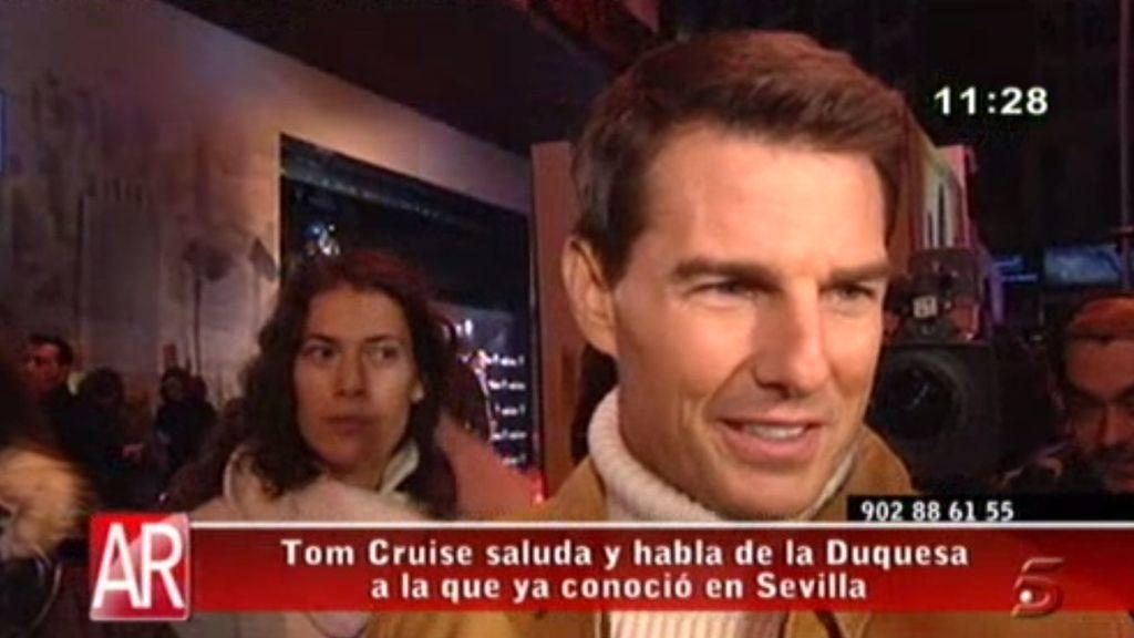Tom Cruise presenta 'Misión Imposible' en Madrid