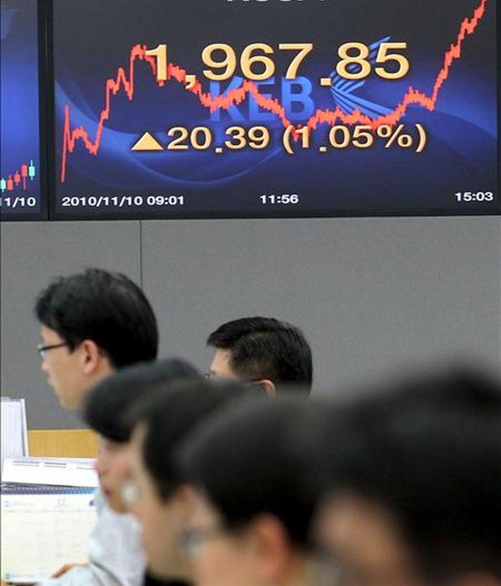 Una vista general de la Bolsa de Seúl, Corea del Sur. EFE/Archivo