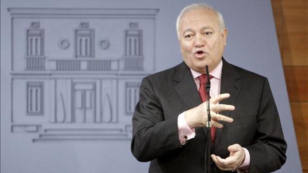 En la imagen, el ministro de Asuntos Exteriores, Miguel Angel Moratinos. EFE/Archivo