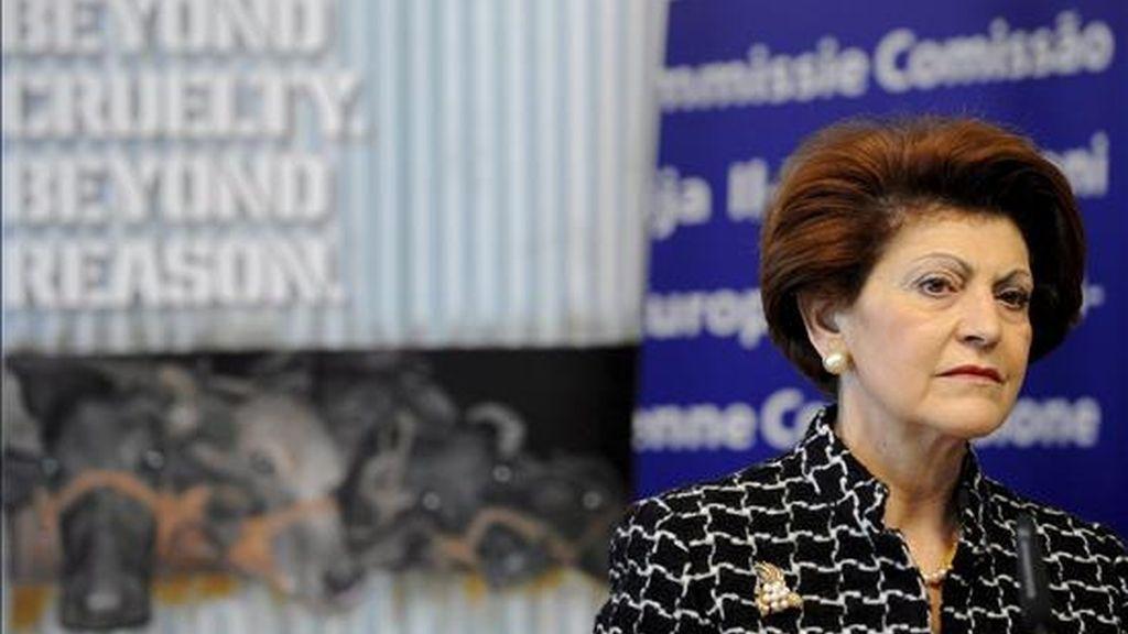 La comisaria de Sanidad de la Unión Europea, la chipriota Androulla Vassiliou. EFE/Archivo