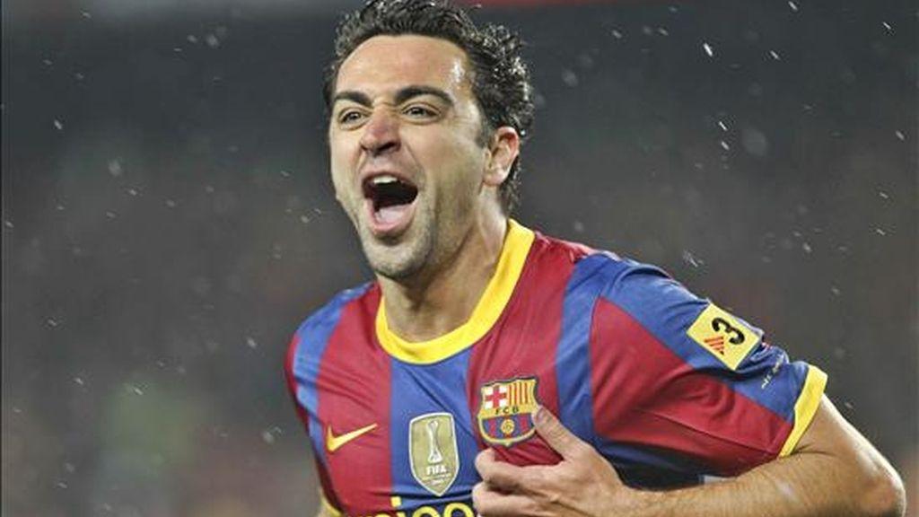 El centrocampista del FC Barcelona Xavi Hernández. EFE/Archivo