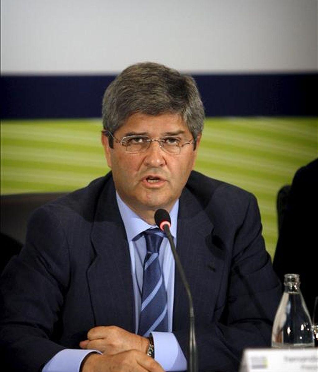El presidente de la inmobiliaria Martinsa-Fadesa, Fernando Martín, durante una Junta General Ordinaria de Accionistas. EFE/Archivo