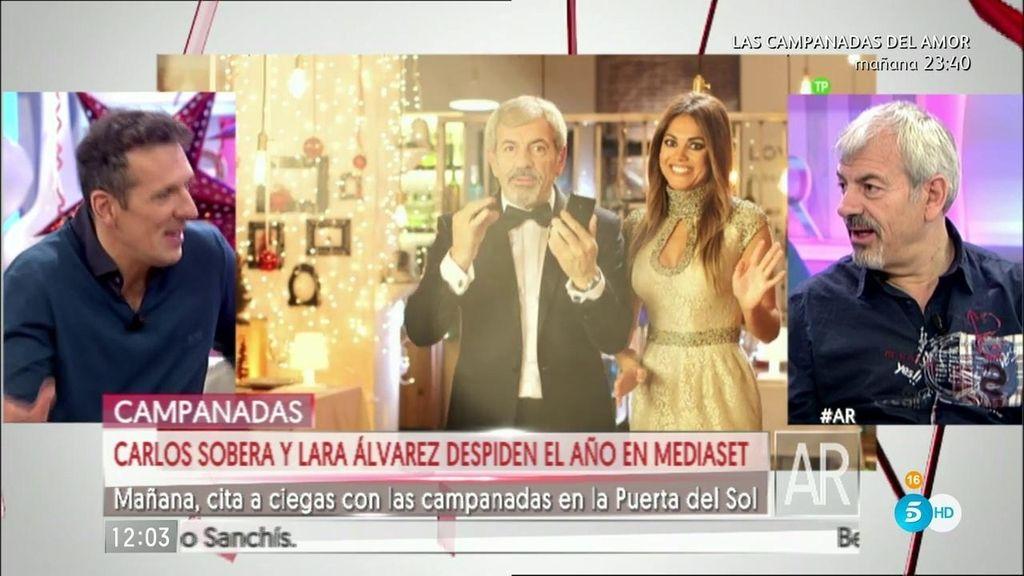Lidia y Matías acompañan a Carlos Sobera y Lara Álvarez en las 'Campanadas del amor'