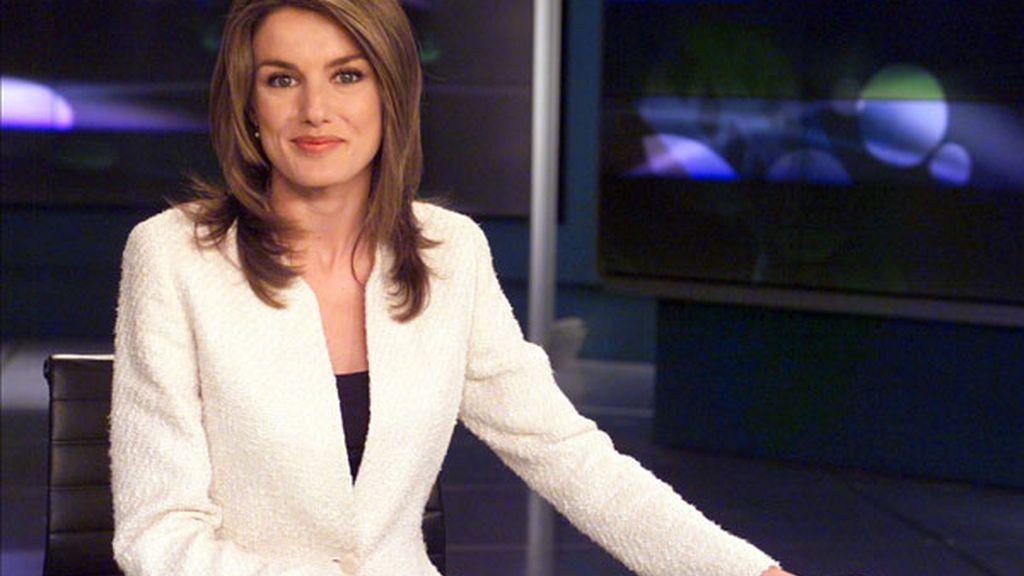 Letizia, durante su etapa de periodista en televisión