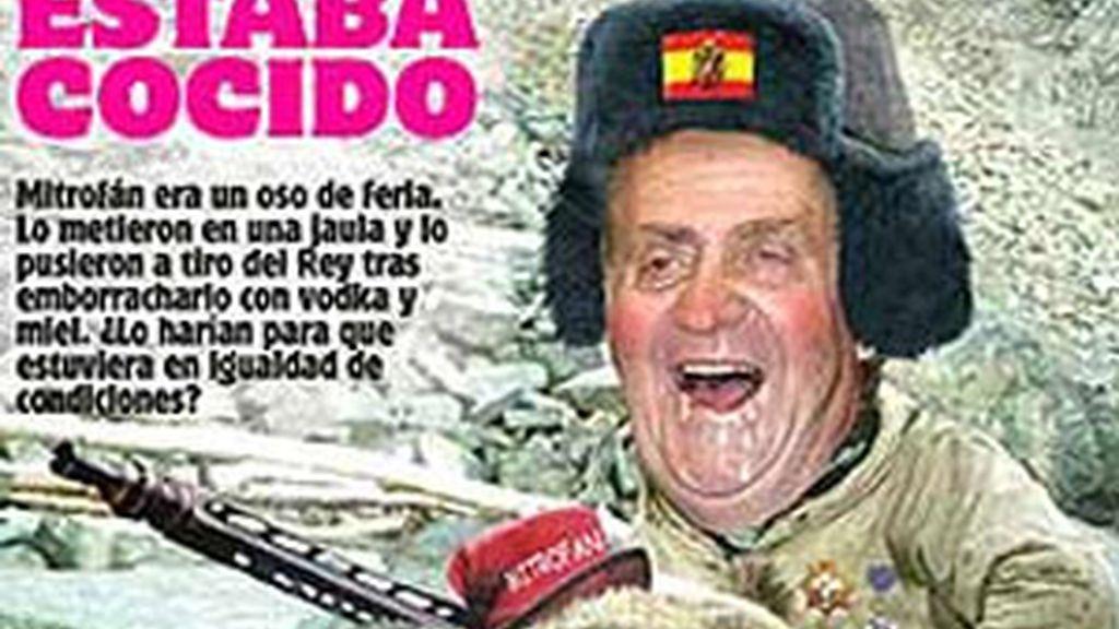El fotomontaje fue publicado en los diarios vascos 'Deia' y 'Gara'.