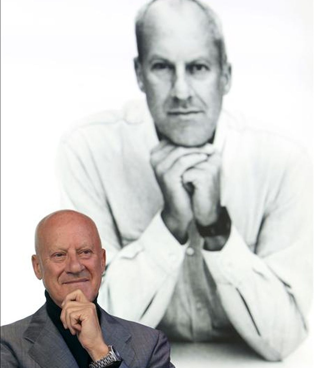 "El arquitecto británico Norman Foster, antes de la entrevista que concedió a Efe con motivo de la presentación en Madrid del documental sobre su obra ""How much does your building weigh, Mr. Foster?"". EFE"