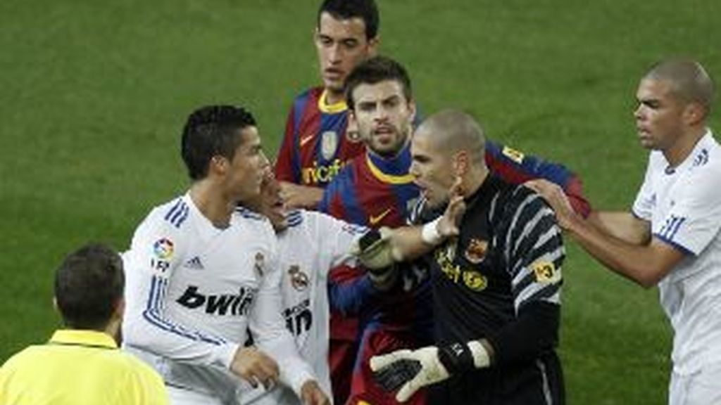 Valdés, en el último Barça-Madrid en el Camp Nou. Foto: Gtres