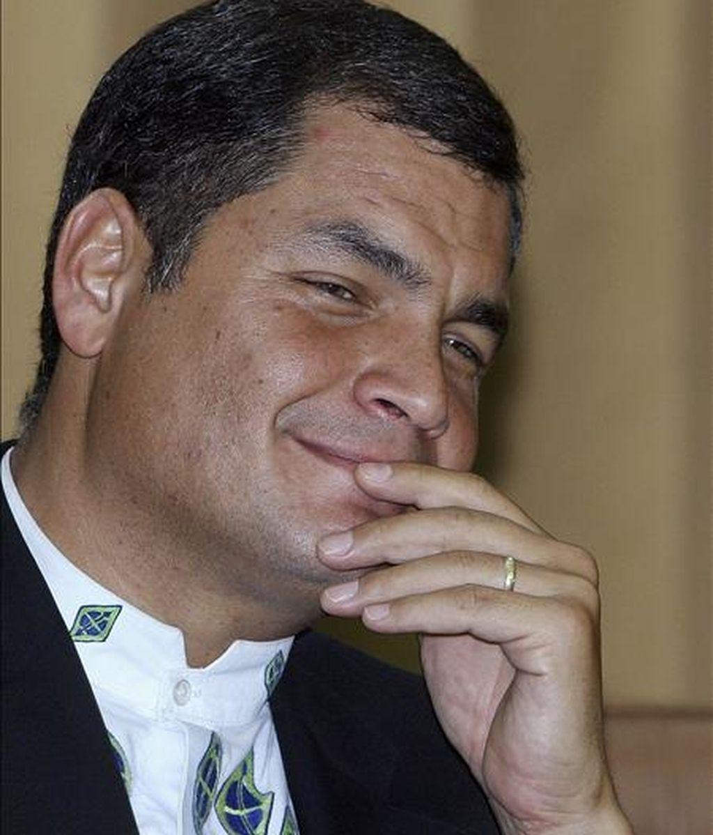A 20 días de la cita electoral, Rafael Correa obtendría un 51 por ciento de apoyo popular. EFE/Archivo