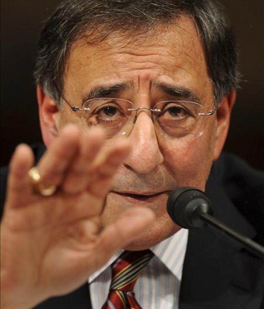 Imagen de este viernes del ex congresista estadounidense León Panetta durante la audiencia de confirmación de su nombramiento como director de la CIA. EFE