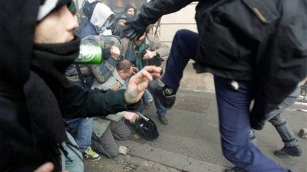 Violencia en el centro de Roma