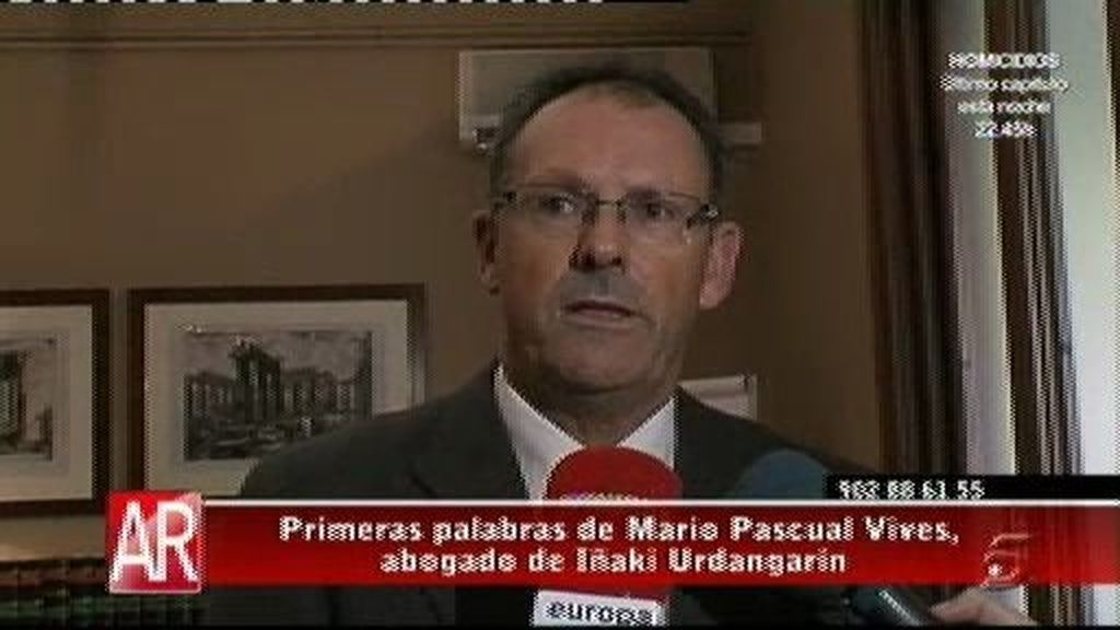 """Mario Pascual Vives, abogado de Iñaki Urdangarín: """"Por su manera de ser, siempre tendrá clara su convicción de inocencia"""""""