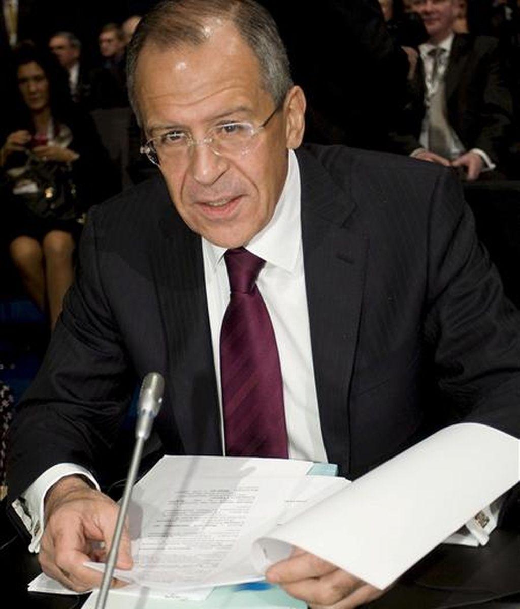 El ministro ruso de Asuntos Exteriores, Serguei Lavrov. EFE/Archivo