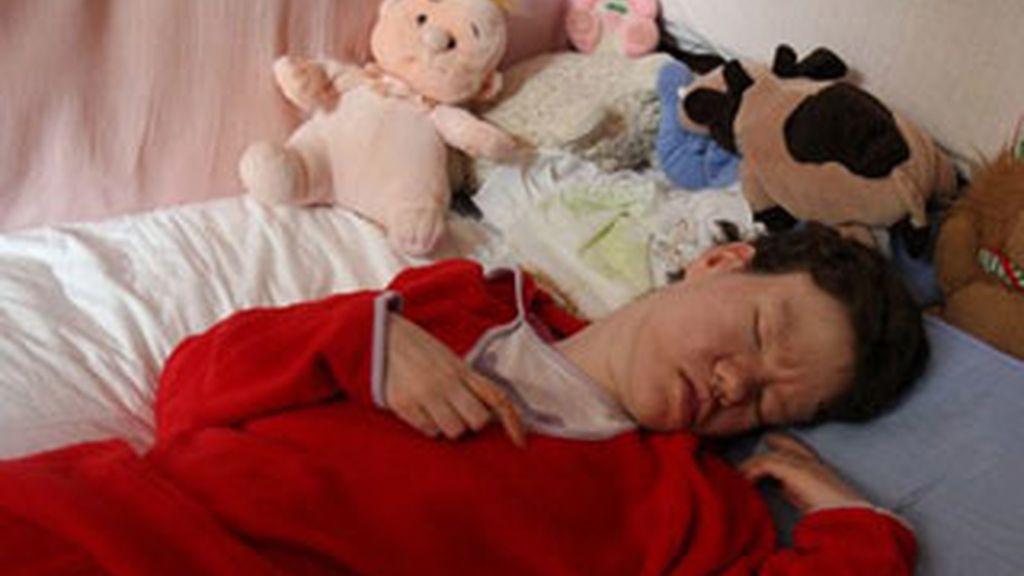 La vida de esta mujer afectada de una lesión cerebral grave se emitirá en tiempo real a través de la Web, por decisión de sus padres. Foto Paris Match