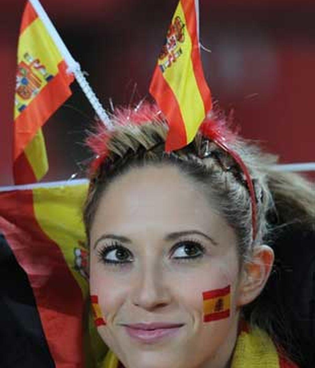 Por dentro y por fuera: todos con España. Foto: Getty.