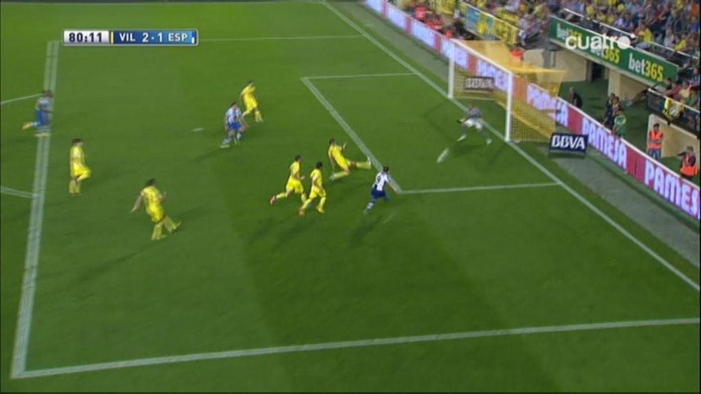 Gol de Sergio García (Villarreal 2-1 Espanyol)