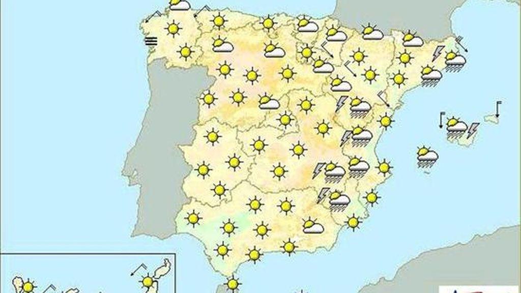 Tiempo previsto para mañana en España. EFE