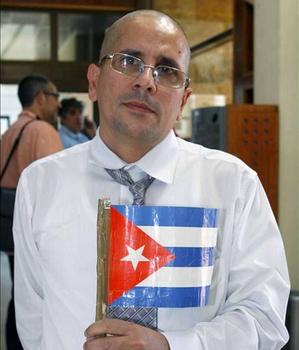 José Ubaldo Izquierdo, presos político cubano excarcelado el pasado 22 de julio. EFE/Archivo