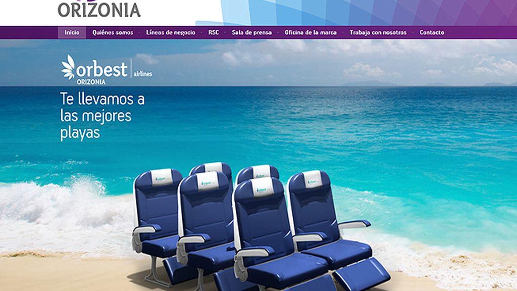 Página Web de la compañía Orizonia