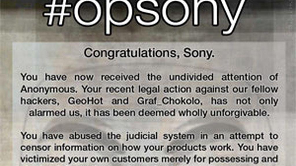 Parte del comunicado publicado en AnonNews.