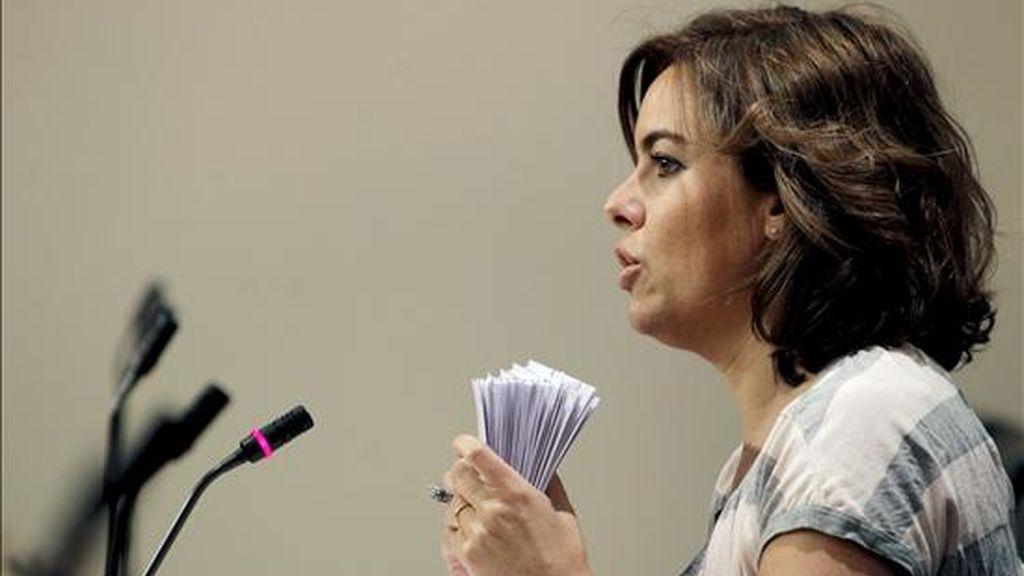 La portavoz del PP en la Cámara Baja, Soraya Sáenz de Santamaría. EFE/Archivo