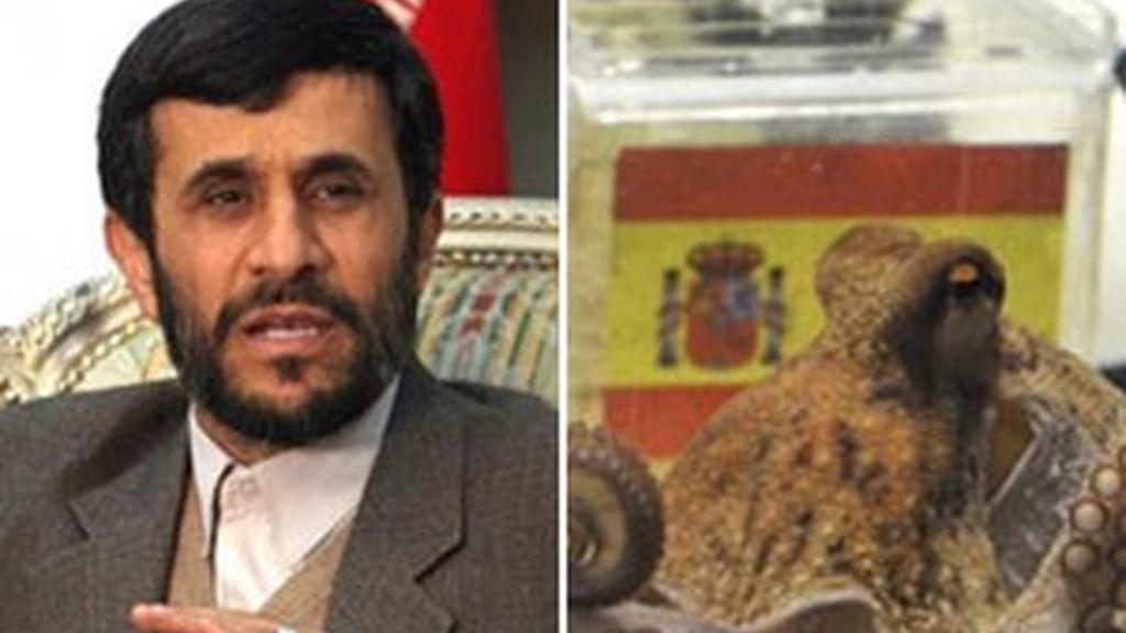 Para Ahmadineyad el pulpo Paul sólo sirve de propaganda occidental. Foto: AP.